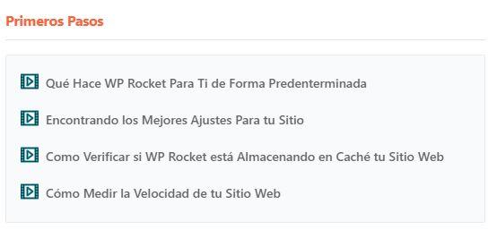Primeros Pasos con WP Rocket