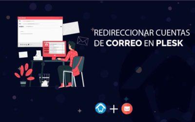 Redireccionar cuentas de correo en Plesk