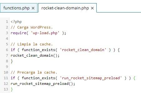 Código archivo Rocket Clean Domain