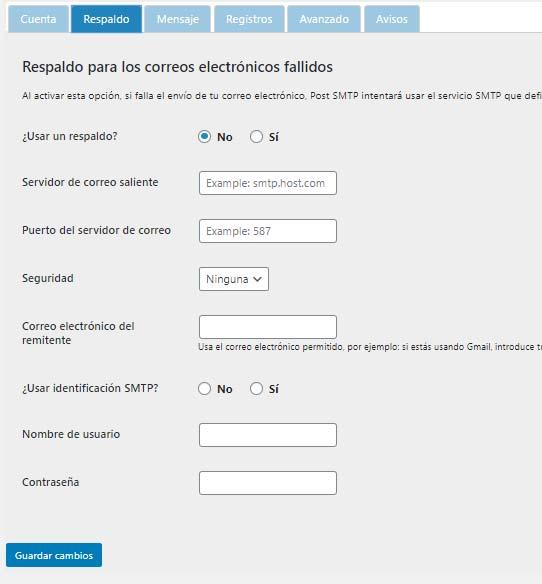 ¿Cómo configurar el formulario de contacto mediante SMTP en WordPress?