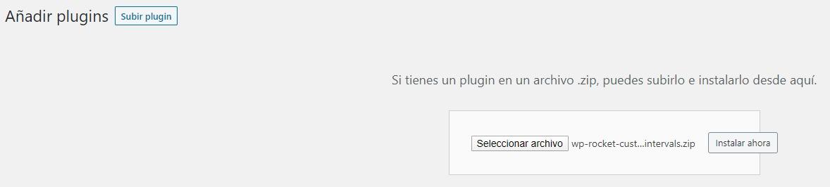 Instalar Plugin WP Rocket | Custom Preload Intervals