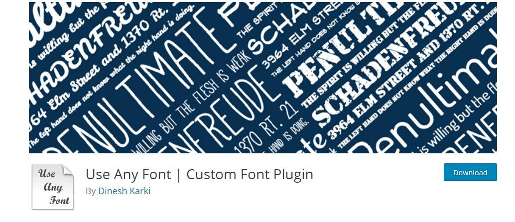 Configuración Use Any Font