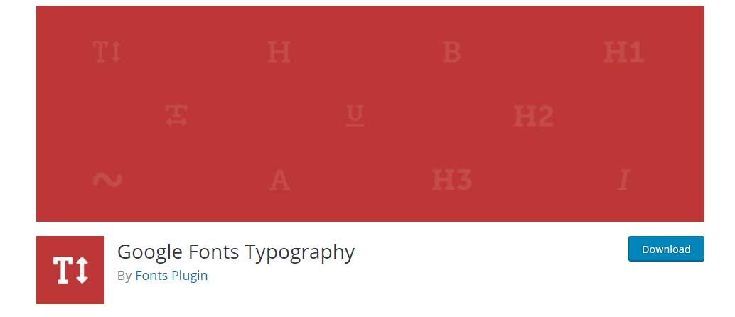 Configuración Google Fonts Typography