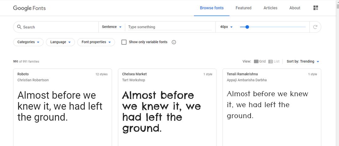 Tipos Google Fonts
